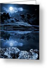 Dovestones Night Sky Greeting Card