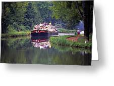 Down A Sleepy River Greeting Card