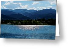 Down By The Lake Digital Art Greeting Card