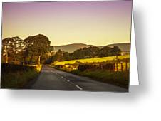 Down By The Road. Scotland Greeting Card