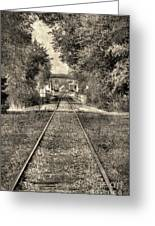 Down By The Tracks - Aged Greeting Card