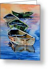Down East Dories At Dawn Greeting Card