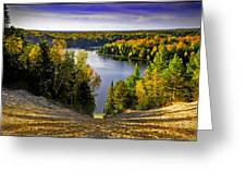 Down Hill Into Fall Greeting Card