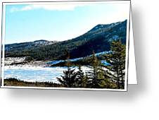 Down In The Valley Triptych Greeting Card