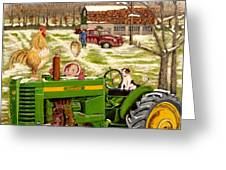 Down On The Farm Greeting Card by Chris Dreher