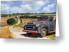 Down On The Farm - International Harvester S-100 Greeting Card