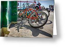 Down Spout And Bikes Greeting Card