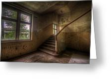 Down Stairs Greeting Card