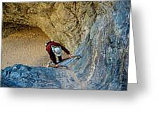 Down The Ladder In Big Painted Canyon Trail In Mecca Hills-ca  Greeting Card