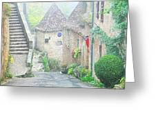 Down The Lane In St Cirq Lapopie Greeting Card