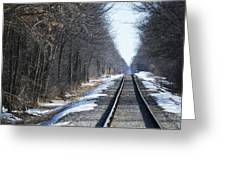 Down The Rails Greeting Card