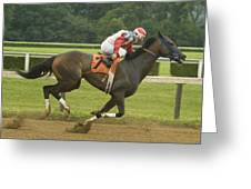 Down The Stretch Greeting Card