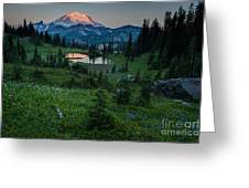 Down The Valley To Rainier Greeting Card