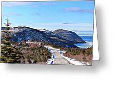 Down To The Sea - Oceanview - Hillview Greeting Card