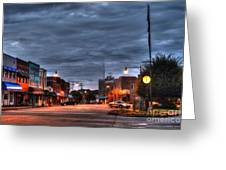 Down Town Granite Falls At Six Thirty In The Morning Greeting Card by Robert Loe