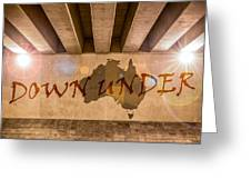 Down Under Map  Greeting Card