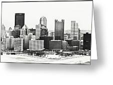 Cold Winter Day In Pittsburgh Pennsylvania Greeting Card