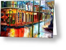 Downpour On Bourbon Street Greeting Card