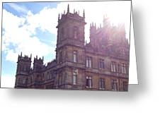 Downton Abbey In A Ray Of Sunlight Greeting Card