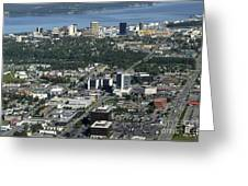 Downtown Anchorage Alaska Greeting Card