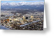 Downtown Anchorage Greeting Card