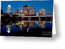 Downtown At Dusk Greeting Card