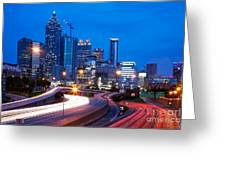Downtown Atlanta At Dusk Greeting Card