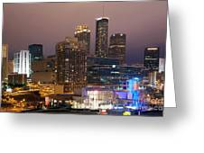 Downtown Atlanta Skyline At Dusk Greeting Card