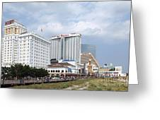 Downtown Atlantic City New Jersey Greeting Card