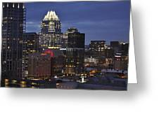 Downtown Austin 3 Greeting Card