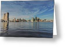 Downtown Baltimore And Harbor East Skylines Greeting Card