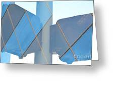 Downtown Blue Greeting Card