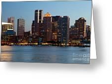 Downtown Boston Skyline Greeting Card