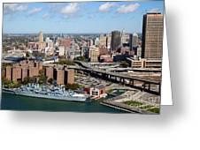 Downtown Buffalo Skyline Greeting Card