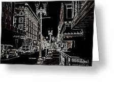 Downtown By Angelia Greeting Card