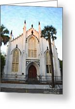 Downtown Charleston Church Greeting Card
