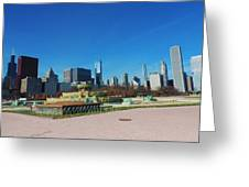 Downtown Chicago With Buckingham Fountain 2 Greeting Card