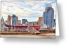 Downtown Cincinnati 9885 Greeting Card