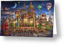 Downtown Greeting Card by Ciro Marchetti