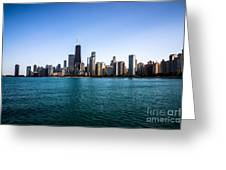 Downtown City Buildings In The Chicago Skyline Greeting Card