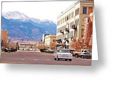 Downtown Colorado Springs  Colorado Greeting Card