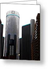 Downtown Detroit Through Joey's Eyes Greeting Card
