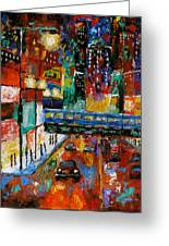 Downtown Friday Night Greeting Card