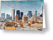 Downtown Houston Panorama Greeting Card