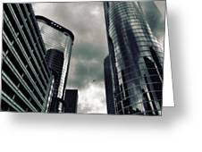 Downtown Houston Skyscrapers In Storm Greeting Card