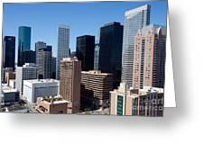 Downtown Houston Texas Greeting Card