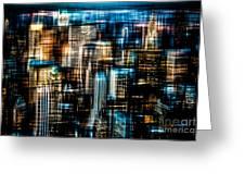 Downtown II - Dark Greeting Card by Hannes Cmarits