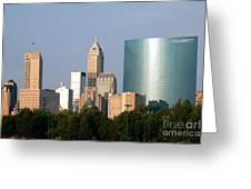 Downtown Indianapolis Indiana Greeting Card