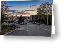 Downtown Ipswich Sunset Greeting Card