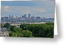 Downtown Kansas City From The Northland Greeting Card